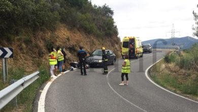 Photo of Accidente entre unha moto e un turismo na estrada de Santigoso (O Barco)