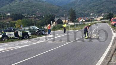 Photo of Accidente de tráfico nun dos accesos ao Barco dende a N-120