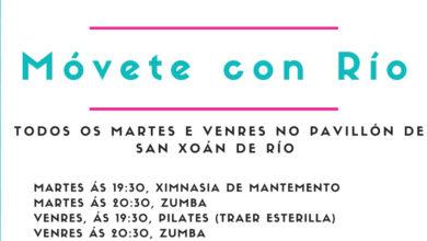 """Photo of """"Móvete con Río"""", un programa de ximnasia, zumba e pilates para este verán"""