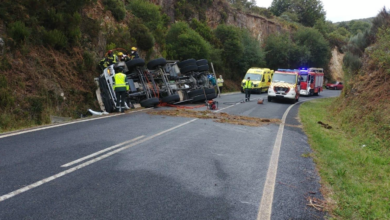 Photo of Falece o condutor dun camión formigoneira nun accidente na Veiga
