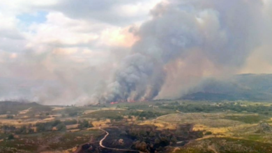Photo of Activo un incendio en Cádavos (A Mezquita) e estabilizado o de Penapetada (Trives)