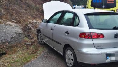 Photo of Accidente de tráfico na estrada que conecta Trives con Barrio