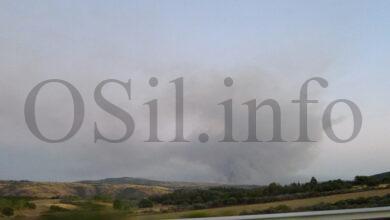 Photo of Incendio na Esculqueira (A Mezquita), que entraba dende Portugal