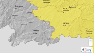 Photo of Aviso amarelo por tormentas en Valdeorras e na montaña ourensá nesta tarde