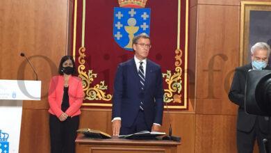 Photo of Un emocionado Alberto Núñez Feijóo toma posesión por cuarta vez como presidente da Xunta