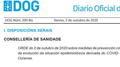 Photo of O DOG publica as novas medidas no concello de Ourense pola situación sanitaria