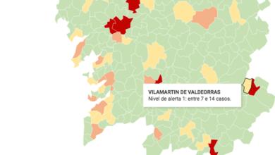 Photo of Vilamartín sitúase en nivel de alerta 1 no mapa galego do Covid