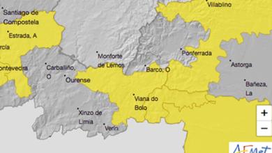 Photo of Alerta amarela por chuvia e vento o luns 19 de outubro na montaña ourensá