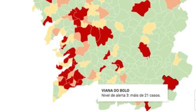 Photo of Viana do Bolo pasa a nivel de alerta vermello no mapa epidemiolóxico do Covid