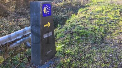 Photo of Mouteiras de lousa para mellorar a sinalización do Camiño de Inverno ao seu paso por Valdeorras