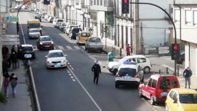 Photo of Accidente de tráfico na estrada que atravesa A Rúa