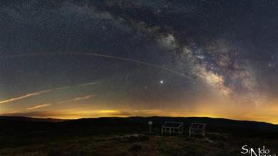 """Photo of A constelación do Arqueiro, fotografada polo barquense Sindo Novoa, no proxecto """"Ceos galegos"""""""