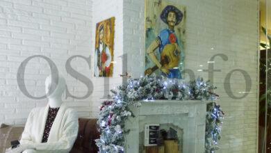 """Photo of Un adianto da serie """"Músicos"""" da pintora Lola Doporto, en Miranda Moda do Barco"""