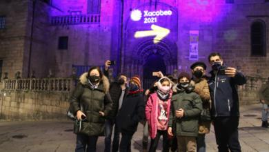 """Photo of """"Acende o Xacobeo"""" ilumina a Catedral de Ourense"""