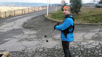 Photo of Iván Dosantos (Atletismo Rúa) proponse percorrer hoxe 65 km polo Camiño de Inverno