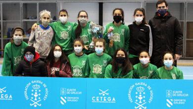 Photo of As rapazas do CH Burgas Ourense proclámanse campioas galegas de hóckey sala
