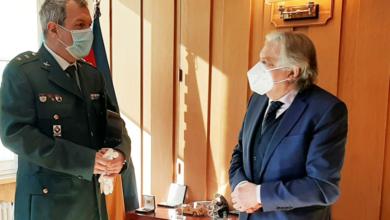 Photo of Último encontro de traballo do Subdelegado do Goberno en Ourense co tenente coronel José Fermín Díaz Silva na súa despedida tras a súa promoción